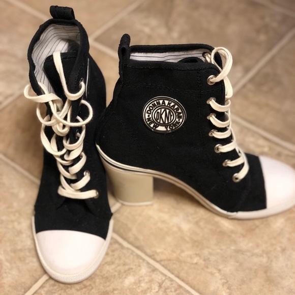 Price Drop Dkny Heeled Sneakers
